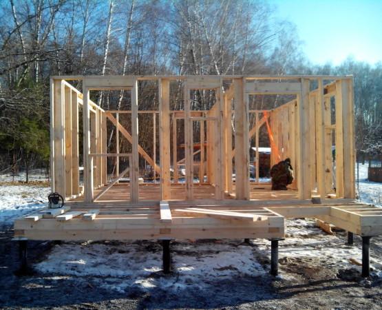 Каркасная баня 6х8: Деревянный каркас