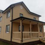 Каркасный дом 8,5х8,5 с террасой