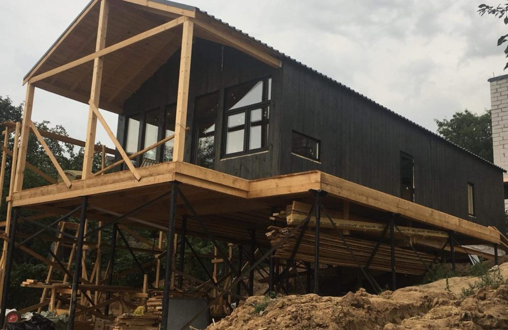 Подливка фундамента старого дома