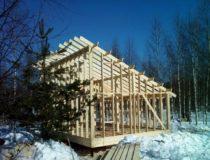 Каркасный дом 6х9 с односкатной крышей