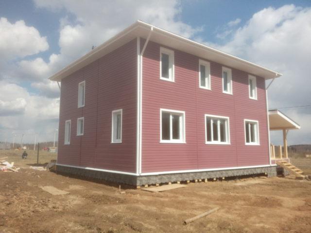 Каркасный дом 10,5х9 два этажа