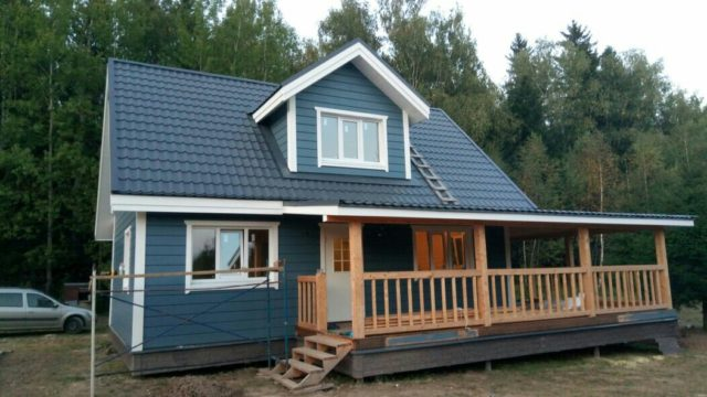 Каркасный дом 6х9 с террасой